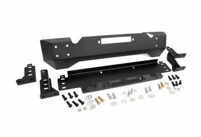 Rough Country Suspension Systems - Rough Country 1012 High Clearance Stubby Front Winch Mount Bumper