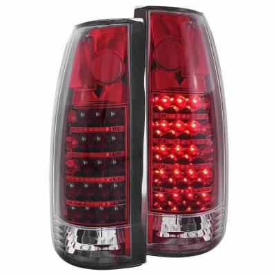 Anzo USA - Anzo USA 311079 Chrome LED Tail Light Set-Red/Clear Lens