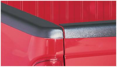 Bushwacker - Bushwacker 48507 Smoothback Side Bed Rail Caps w/o Holes-Black