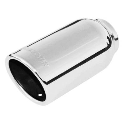 Flowmaster - Flowmaster 15360 Exhaust Pipe Tip Rolled Angle Polished Stainless Steel