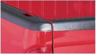 Bushwacker - Bushwacker 49506 Diamondback Side Bed Rail Caps w/ Holes-Black