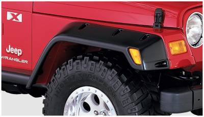 Bushwacker - Bushwacker 10029-07 Pocket Style Front Fender Flares-Black