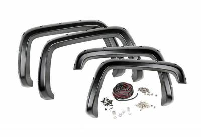 Rough Country Suspension Systems - Rough Country F-C19911 Pocket Style Fender Flares w/ Rivets