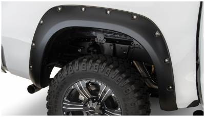 Bushwacker - Bushwacker 30024-02 Pocket Style Rear Fender Flares-Black