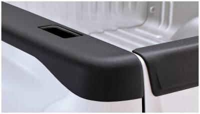 Bushwacker - Bushwacker 48521 Smoothback Side Bed Rail Caps w/ Holes-Black