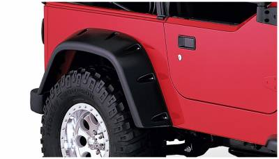 Bushwacker - Bushwacker 10030-07 Pocket Style Rear Fender Flares-Black