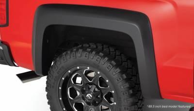 Bushwacker - Bushwacker 40128-02 Extend-a-Fender Rear Fender Flares-Black
