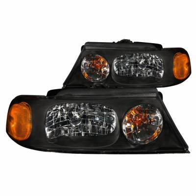Anzo USA - Anzo USA 111046 Crystal Headlight Set-Black