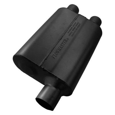 Flowmaster - Flowmaster 9425432 40 Series Delta Flow Muffler, Offset/Dual; Aluminized