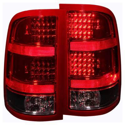 Anzo USA - Anzo USA 311090 Black LED Tail Light Set-Red/Clear Lens