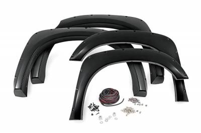 Rough Country Suspension Systems - Rough Country F-T11411 Pocket Style Fender Flares w/ Rivets