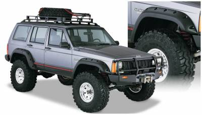 Bushwacker - Bushwacker 10911-07 Cut-Out Front/Rear Fender Flares-Black