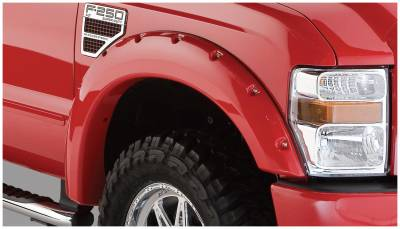 Bushwacker - Bushwacker 20055-02 Pocket Style Front Fender Flares-Black