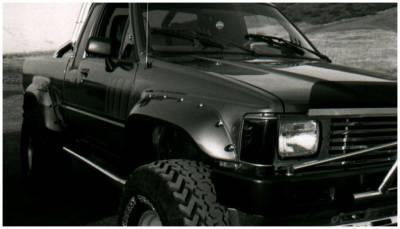 Bushwacker - Bushwacker 31010-11 Cut-Out Rear Fender Flares-Black