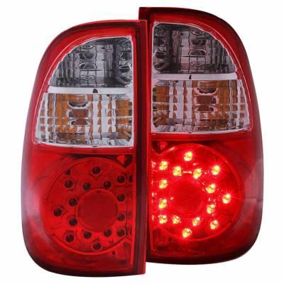 Anzo USA - Anzo USA 311117 Chrome LED Tail Light Set-Red/Clear Lens
