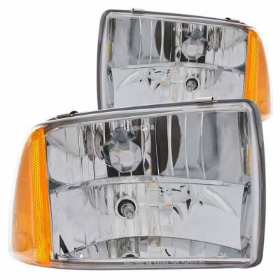 Anzo USA - Anzo USA 111078 Crystal Headlight Set-Chrome