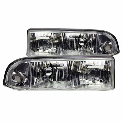 Anzo USA - Anzo USA 111014 Crystal Headlight Set-Chrome