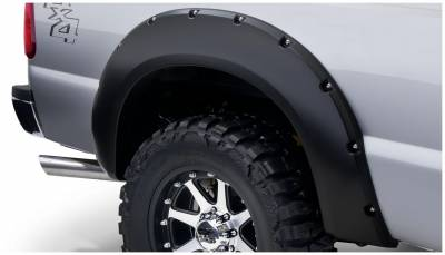Bushwacker - Bushwacker 20084-02 Pocket Style Rear Fender Flares-Black