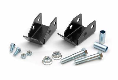 Rough Country Suspension Systems - Rough Country 1185 Rear Shock Relocation Brackets