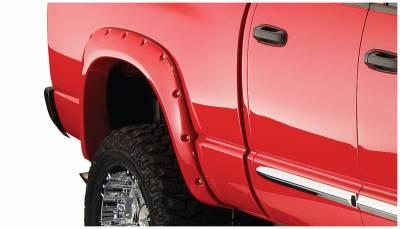 Bushwacker - Bushwacker 50026-02 Pocket Style Rear Fender Flares-Black