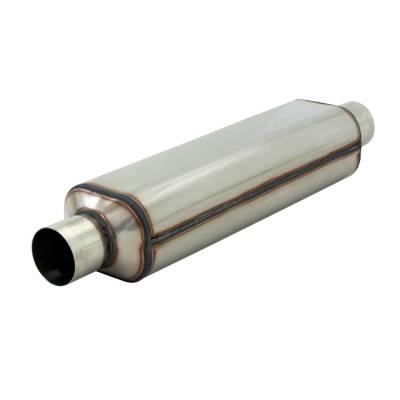 Flowmaster - Flowmaster 12518304 Super HP-2 Hushpower Muffler, Center/Center; Stainless