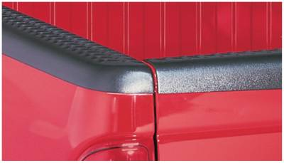 Bushwacker - Bushwacker 49514 Diamondback Side Bed Rail Caps w/o Holes-Black