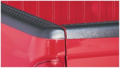 Bushwacker - Bushwacker 59509 Diamondback Side Bed Rail Caps w/o Holes-Black