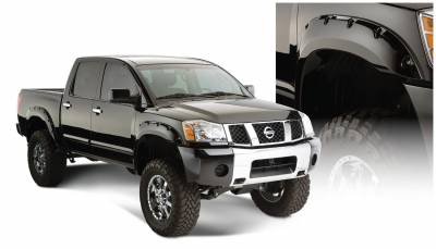 Bushwacker - Bushwacker 70908-02 Pocket Style Front/Rear Fender Flares-Black