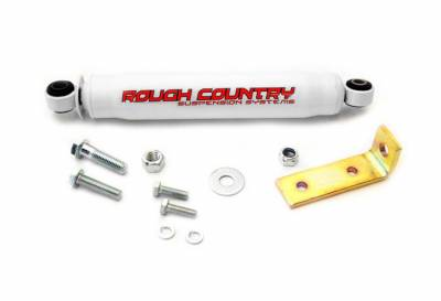 Rough Country Suspension Systems - Rough Country 87361 Big Bore Single Steering Stabilizer Kit