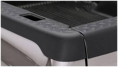 Bushwacker - Bushwacker 59512 Diamondback Side Bed Rail Caps w/ Holes-Black