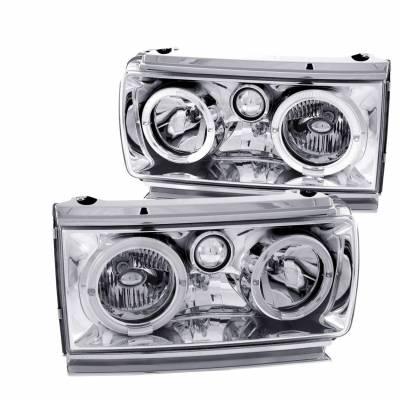 Anzo USA - Anzo USA 111092 Headlight Assembly Clear Lens Pair LED Chrome