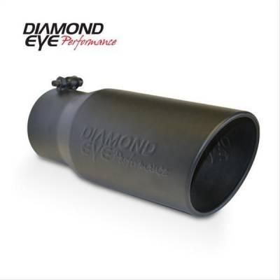 Diamond Eye - Diamond Eye 5612BRA-DEBK Tip Bolt-on Rolled Angle Cut-Diamond Eye Logo Embossed