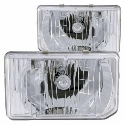 Anzo USA - Anzo USA 111050 Crystal Headlight Set-Chrome