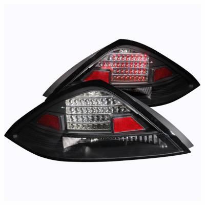 Anzo USA - Anzo USA 321029 Black LED Tail Light Set-Clear Lens