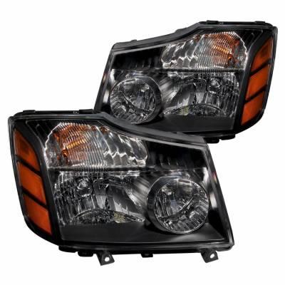 Anzo USA - Anzo USA 111069 Crystal Headlight Set-Black