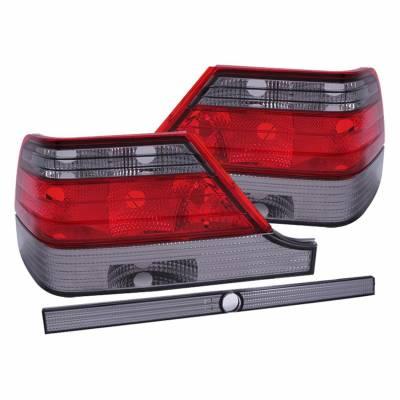 Anzo USA - Anzo USA 221154 Chrome Euro Tail Light Set-Red/Smoke Lens