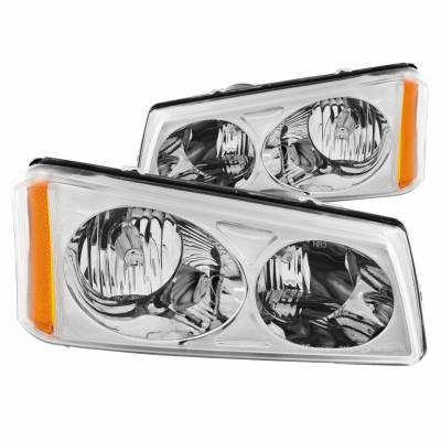 Anzo USA - Anzo USA 111010 Crystal Headlight Set-Chrome