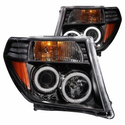 Anzo USA - Anzo USA 111111 Projector Headlight Set w/ CCFL Halo-Black