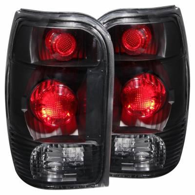 Anzo USA - Anzo USA 211084 Black Euro Tail Light Set-Clear Lens