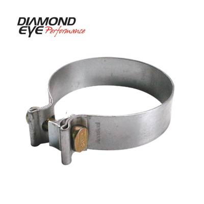 """Diamond Eye - Diamond Eye BC350A Clamp Torca Band Clamp 3.5"""" Aluminized"""