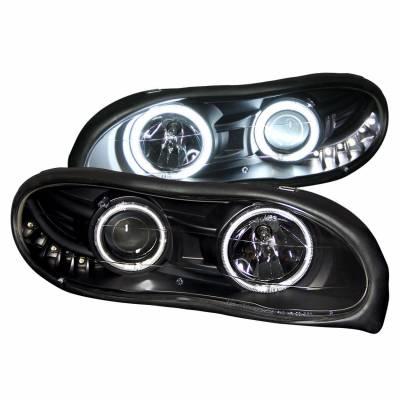 Anzo USA - Anzo USA 121160 Projector Headlight Set w/ CCFL Halo-Black