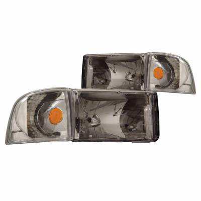 Anzo USA - Anzo USA 111068 Crystal Headlight Set w/ Corners-Chrome