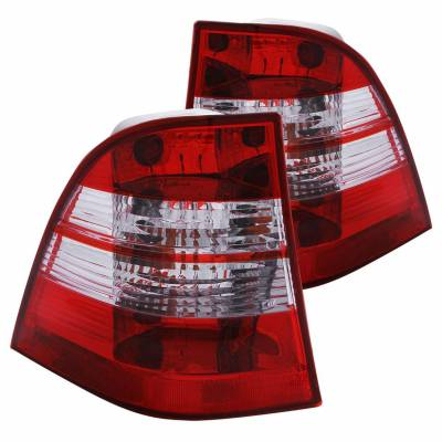 Anzo USA - Anzo USA 221134 Chrome Euro Tail Light Set-Red/Clear Lens