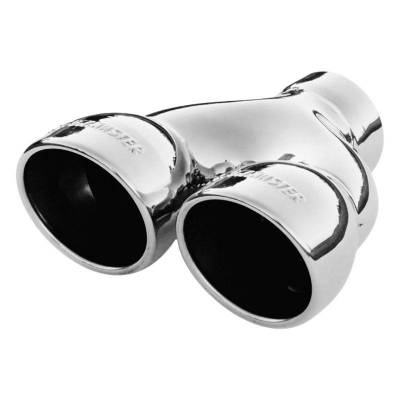 Flowmaster - Flowmaster 15369 Exhaust Pipe Tip Dual Rolled Angle Polished Stainless Steel