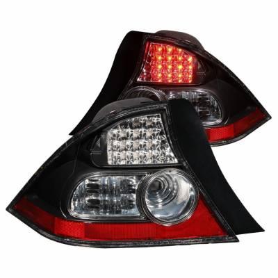 Anzo USA - Anzo USA 321035 Black LED Tail Light Set-Clear Lens