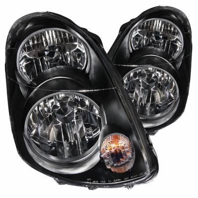 Anzo USA - Anzo USA 121172 Crystal Headlight Set-Black