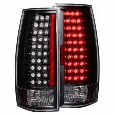 Anzo USA - Anzo USA 311142 Black LED Tail Light Set-Clear Lens
