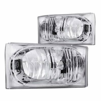 Anzo USA - Anzo USA 111023 Crystal Headlight Set-Chrome