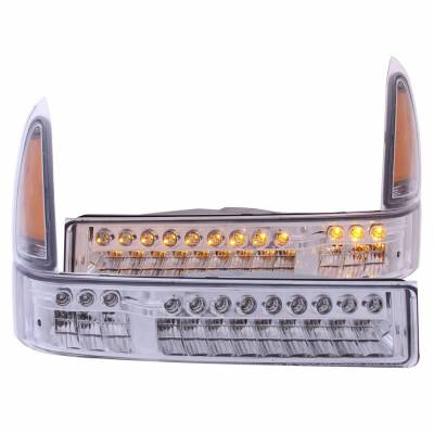 Anzo USA - Anzo USA 511056 LED Clear Lens Front Corner/Parking Lights