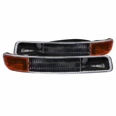 Anzo USA - Anzo USA 511005 Clear Lens Turn Signal/Parking Lights-Black